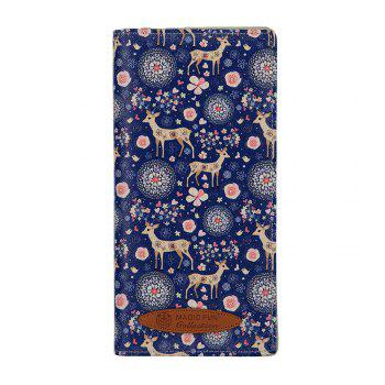 Colorful Personality and Simple Cartoon Pattern Leather Wallet - ROYAL ROYAL