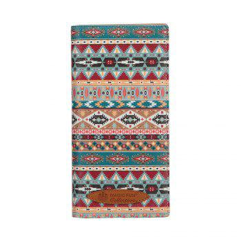 Colorful Personality and Simple Cartoon Pattern Leather Wallet - CHAMBRAY CHAMBRAY