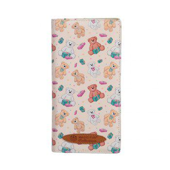 Colorful Personality and Simple Cartoon Pattern Leather Wallet - APRICOT APRICOT