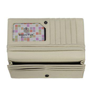 Colorful Personality and Simple Cartoon Pattern Leather Wallet -  APRICOT