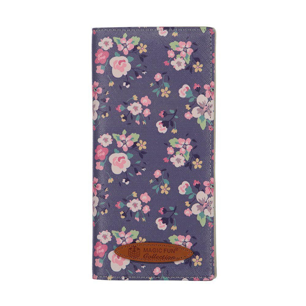 Colorful Personality and Simple Cartoon Pattern Leather Wallet - GRAY