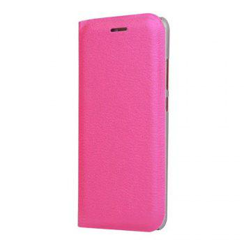Case PU Leather Card Slot Protection Stand Mobile Phone Cover Case for Huawei P10 Lite Shells Capas -  ROSE RED
