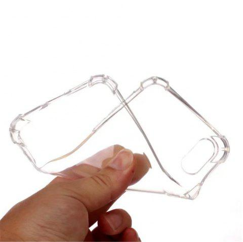 Cute Armor Protective Non-Slip Slim Cover for Apple iPhone X - CLEAR WHITE