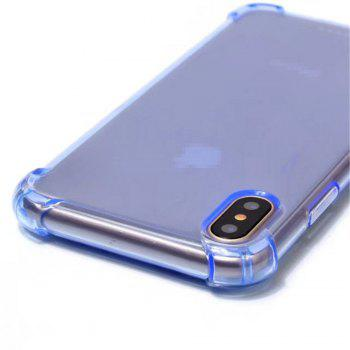 Cute Armor Protective Non-Slip Slim Cover for Apple iPhone X - BLUE