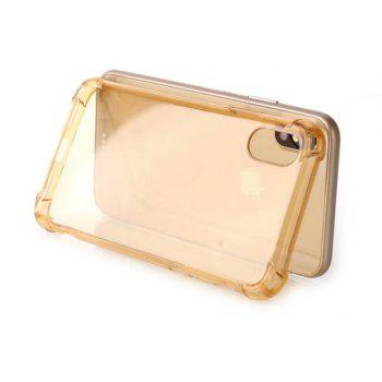 Cute Armor Protective Non-Slip Slim Cover for Apple iPhone X - GOLDEN