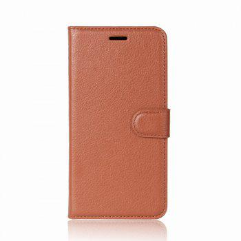 Litchi Texture PU Leather Case Folio Stand Wallet Case Cover with Card Slots for ZenFone 4 MAX ZC520KL - BROWN BROWN