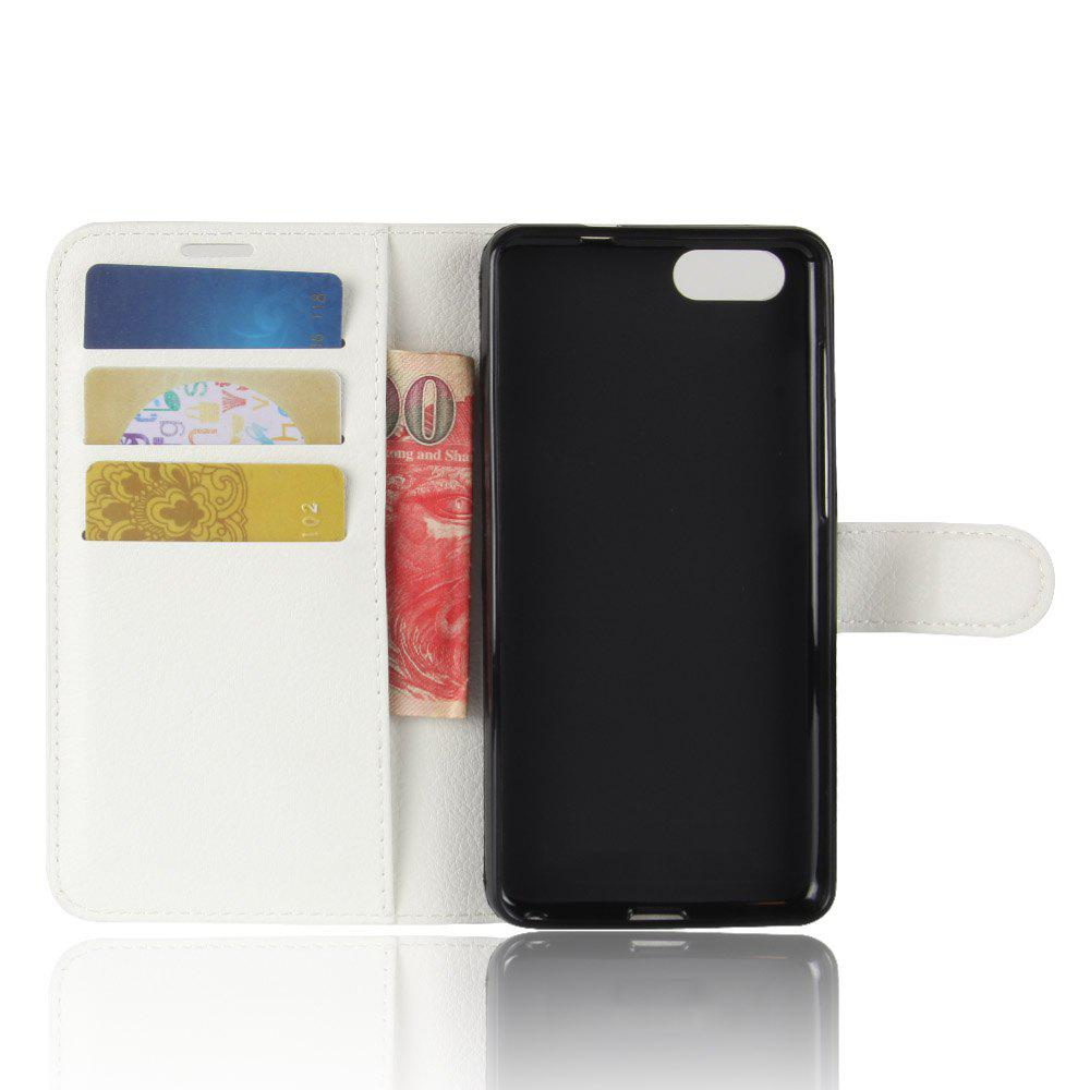 Litchi Texture PU Leather Case Folio Stand Wallet Case Cover with Card Slots for ZenFone 4 MAX ZC520KL - WHITE
