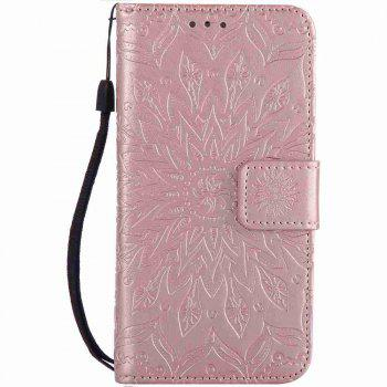 Double Embossed Sun Flower PU TPU Phone Case for  iPhone 7 / 8 - ROSE GOLD