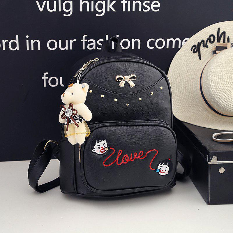 New Design Shoulder Bag Fashion All Match Casual Backpack Women - BLACK