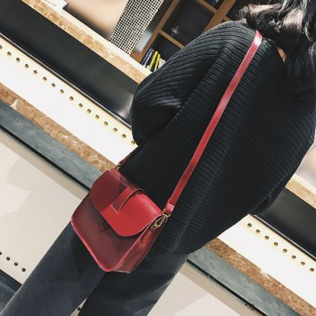 2017 New Shoulder Packet Elegant Design Messenger Crossbody Bag - RED