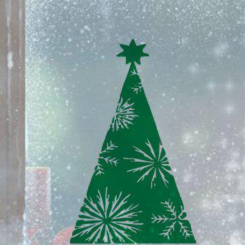 DSU Green Xmas Tree Wall Sticker Home Shop Windows Decal Decor - GREEN 43 X 70 CM