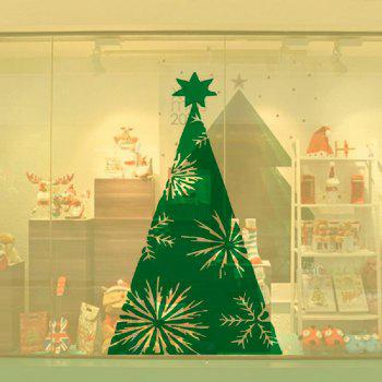 DSU Green Xmas Tree Wall Sticker Home Shop Windows Decal Decor - GREEN GREEN