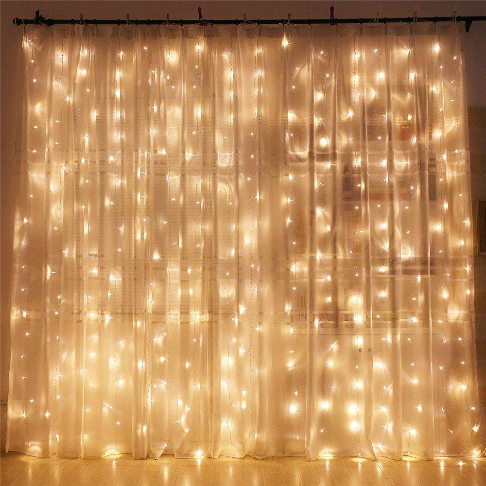 2018 supli 300 led window curtain string light for wedding - Indoor string light decoration ideas ...
