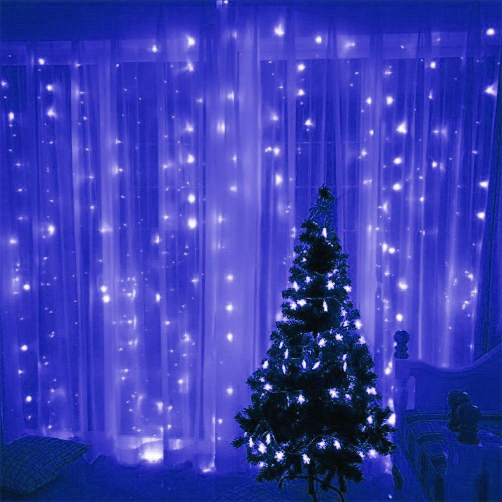 SUPli 300 LED Window Curtain String Light for Wedding Party Home Garden Bedroom Outdoor Indoor Wall Decorations freeshipping 2 mtr x 4 mtr p18 matrix led rgb dj party garden star video curtain backdrop for home garden birthday party