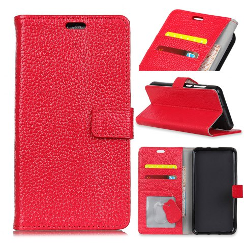Wkae Solid Color Business Leather Holster for Huawei Hornor V9 Play - RED