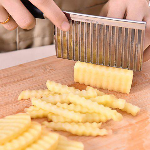 DIHE Wave Shaped Potato Cutter Stainless Steel Knife - SILVER