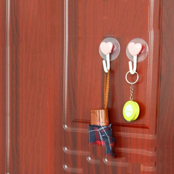 DIHE Bathroom Hook Strong Chuck Loveliness No Screw 2PCS - COLORMIX