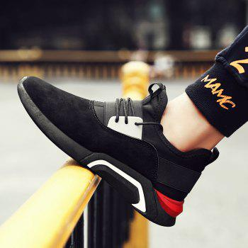 Men'S Sports Shoes Solid Color Breathable Stylish Design Cozy Shoes - BLACK BLACK