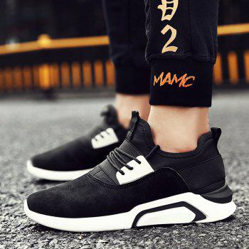 Men'S Sports Shoes Solid Color Breathable Stylish Design Cozy Shoes - BLACK WHITE BLACK WHITE