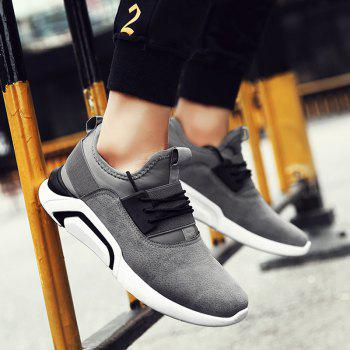 Men'S Sports Shoes Solid Color Breathable Stylish Design Cozy Shoes - GRAY GRAY