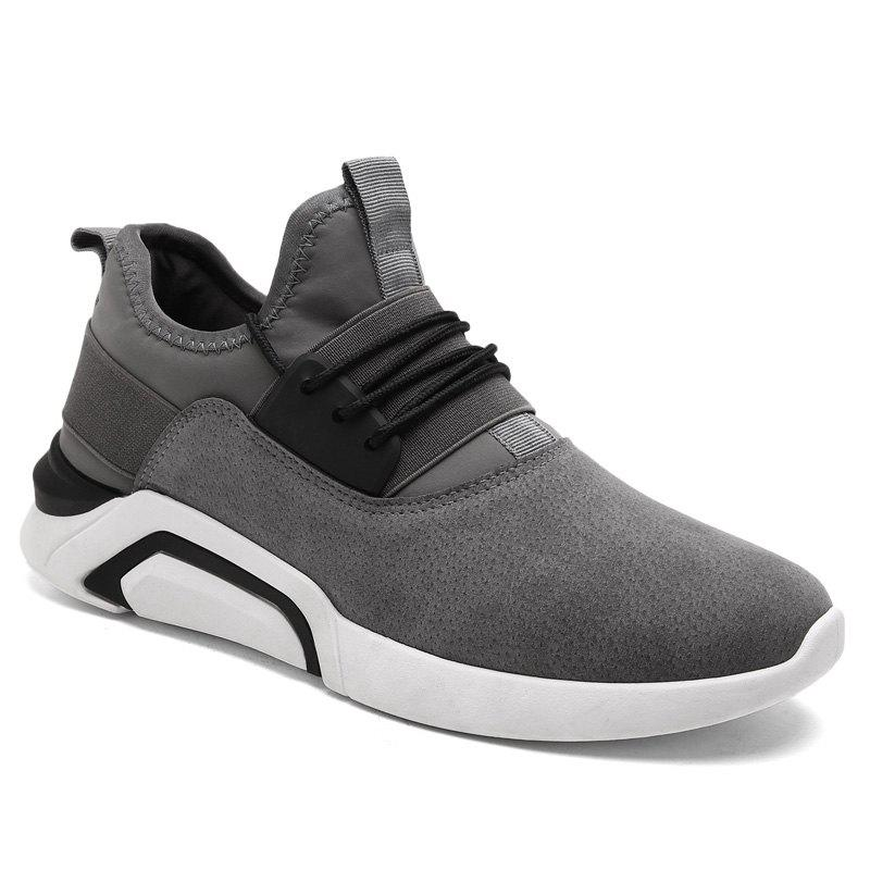 Men'S Sports Shoes Solid Color Breathable Stylish Design Cozy Shoes - GRAY 40