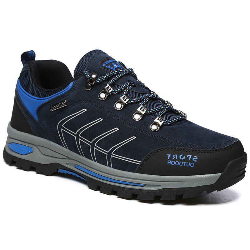 Men'S Sports Shoes Fashion Breathable Light Cozy Outdoor Casual Shoes - DEEP BLUE 40