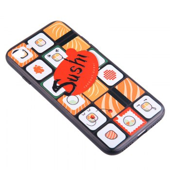Tpu and Pc Cell Phone Cameo Gird Sushi Case for iPhone X / 7 / 8 / 7 Plus / 8 Plus - COLORMIX FOR IPHONE X