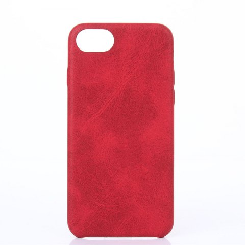 Crazy Horse Stripes   PU Leather Case for iPhone 7/8 - RED