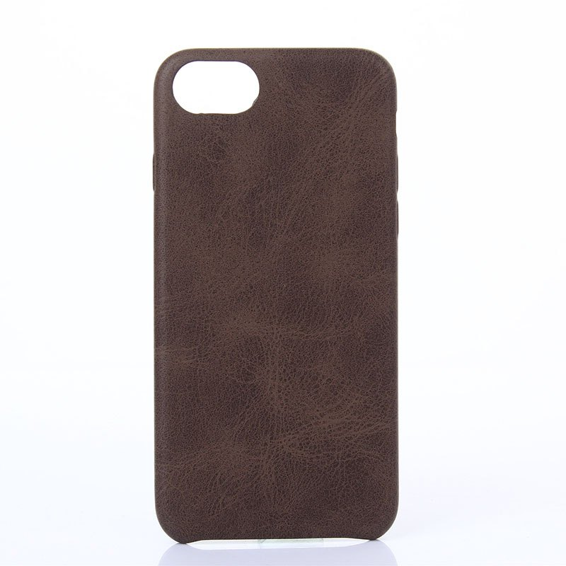 Crazy Horse Stripes   PU Leather Case for iPhone 7/8 - BROWN