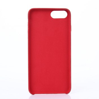 Crazy Horse Stripes  PU Leather Case for iPhone 7 Plus / 8 Plus - RED