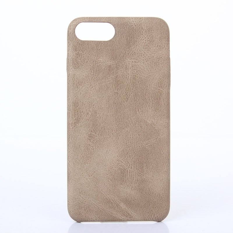 Crazy Horse Stripes  PU Leather Case for iPhone 7 Plus / 8 Plus - KHAKI