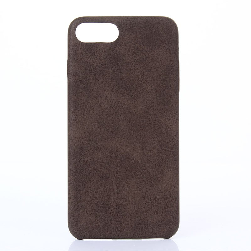 Crazy Horse Stripes  PU Leather Case for iPhone 7 Plus / 8 Plus - BROWN