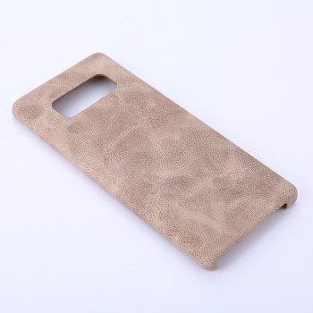 for Samsung Galaxy Note 8 Crazy Horse Stripes PU Leather Case -  KHAKI