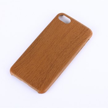 Nacy Wood Grain PU Leather Case for IPhone 7 / 8 - DEEP BROWN