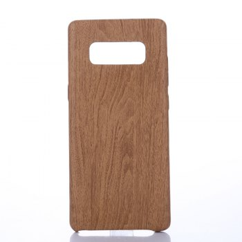 for Samsung Galaxy Note 8 Wood Grain PU Leather Case - LIGHT BROWN LIGHT BROWN