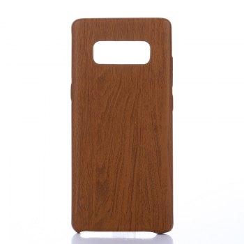 for Samsung Galaxy Note 8 Wood Grain PU Leather Case - DEEP BROWN DEEP BROWN