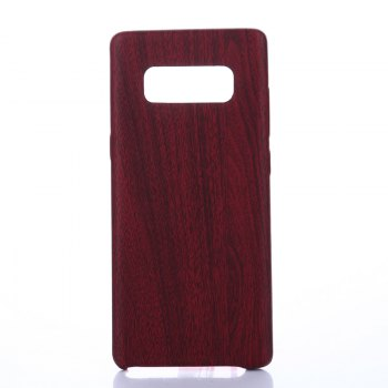 for Samsung Galaxy Note 8 Wood Grain PU Leather Case - RED RED