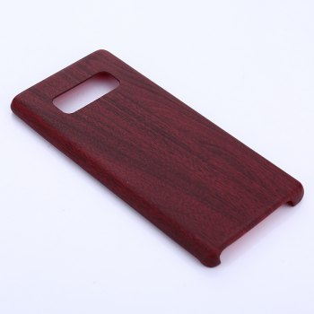 for Samsung Galaxy Note 8 Wood Grain PU Leather Case - RED