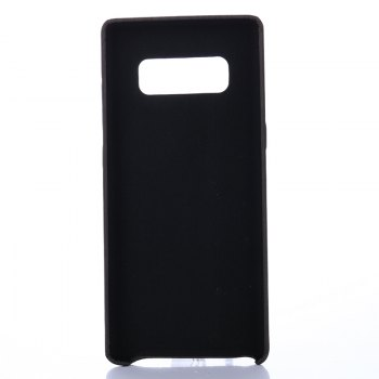 for Samsung Galaxy Note 8 Wood Grain PU Leather Case -  BLACK