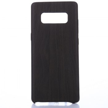 for Samsung Galaxy Note 8 Wood Grain PU Leather Case - BLACK BLACK
