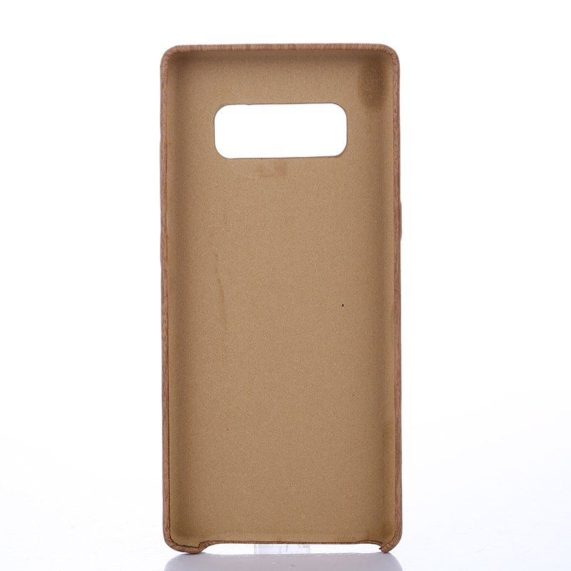 for Samsung Galaxy Note 8 Wood Grain PU Leather Case - LIGHT BROWN