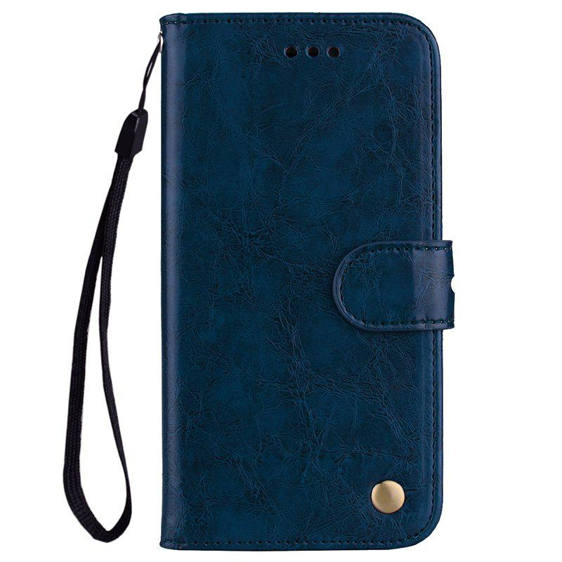 Oil Wax Pattern PU Leather Case for Samsung Galaxy S7 - ROYAL