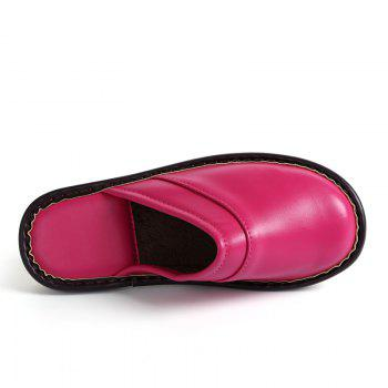 Autumn and Winter Male and Female Skin Cotton Tow Lovers Style Slippers - PEACH RED SIZE(38-39)