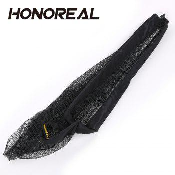 HONOREAL 210CM Portable Ultralight Aluminum Pole Strong Telescopic Folding Fishing Landing Net - BLACK