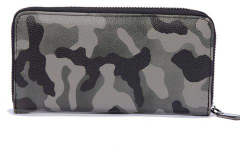 Man's Camouflage Gray Stylish Fashion Cute Wallet Outdoor Sporting Purse - CAMOUFLAGE GRAY