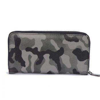 Man's Camouflage Gray Stylish Fashion Cute Wallet Outdoor Sporting Purse - CAMOUFLAGE GRAY CAMOUFLAGE GRAY