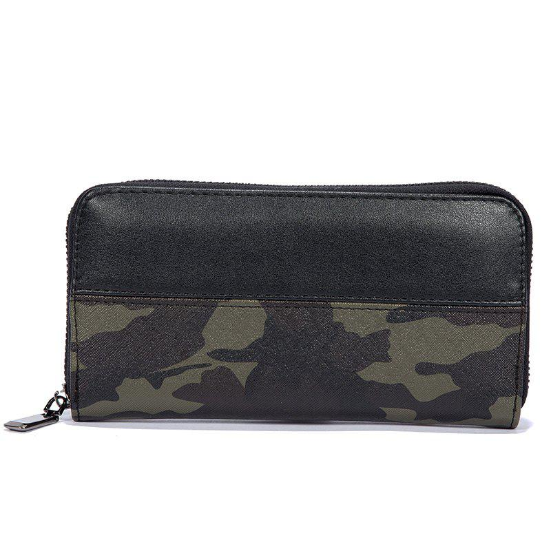 Men's Camouflage Color Fashion Cute Wallet Sporting Outdoor Purse - CAMOUFLAGE GREEN