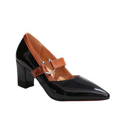 Work Shoes  Pointed Toe High Heels - BLACK 39