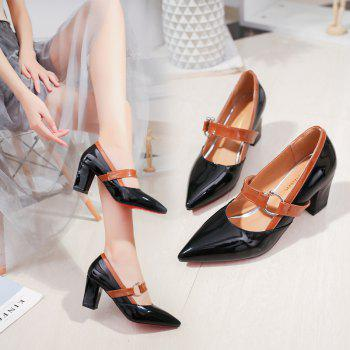 Work Shoes  Pointed Toe High Heels - BLACK BLACK