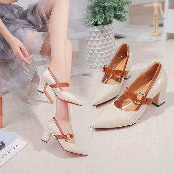 Work Shoes  Pointed Toe High Heels - APRICOT APRICOT